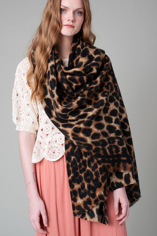 Leopard Thick and Soft Oversized Scarf