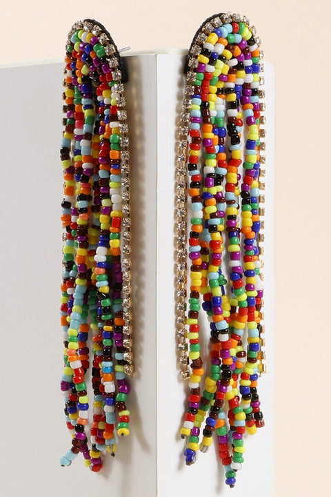 Seed Beads Rainbow Shape Earrings