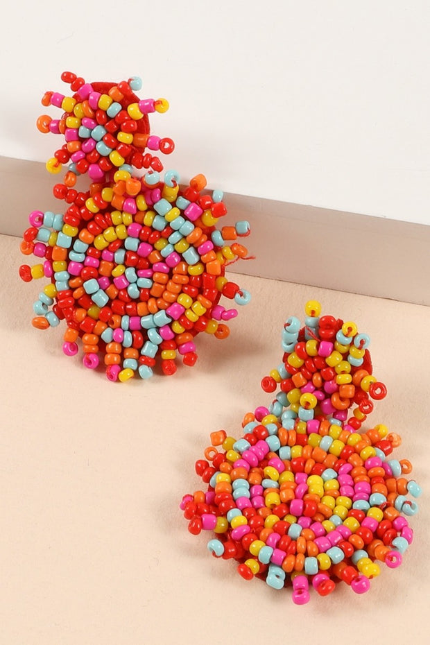 Round Seed Beads Mini Earrings