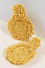 Round Seed Beads Earrings