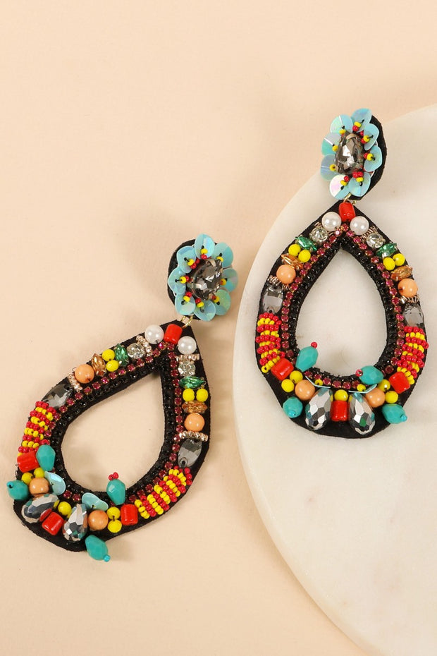Seed Beads Sequins Glass Beads Earrings