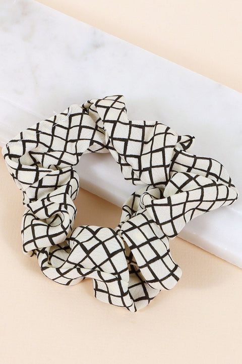 Diamond Pattern Hair Scrunchy