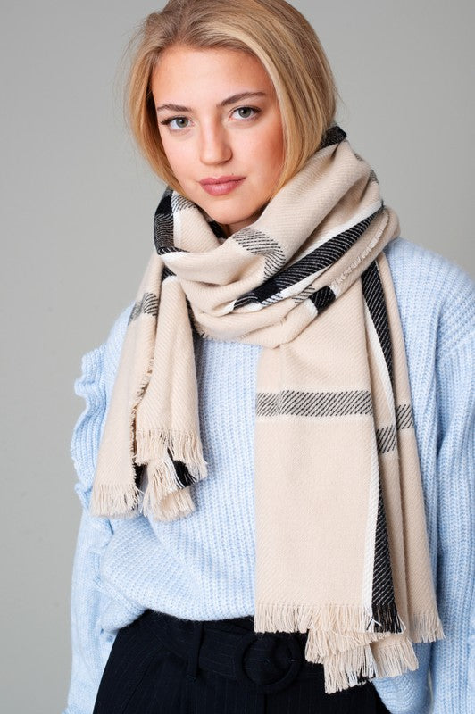 Window Pane Cozy Scarf