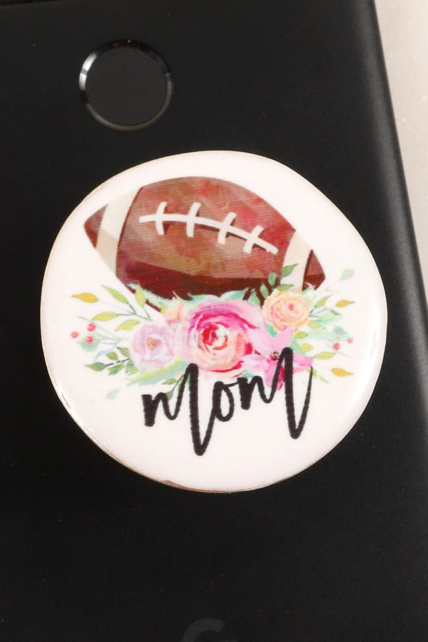 Football Mom Print Self Adhesive Charm