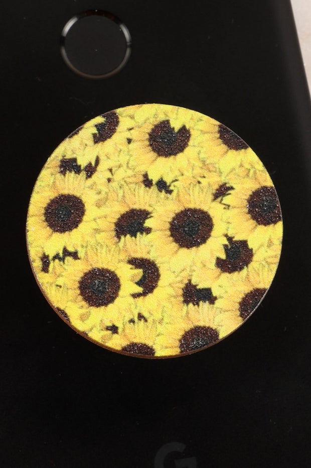 Sunflowers Wooden Self Adhesive Charm