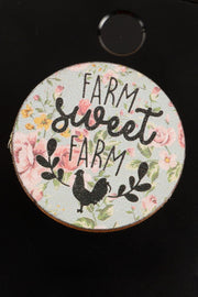 Farm Sweet Farm Wooden Self Adhesive Charm