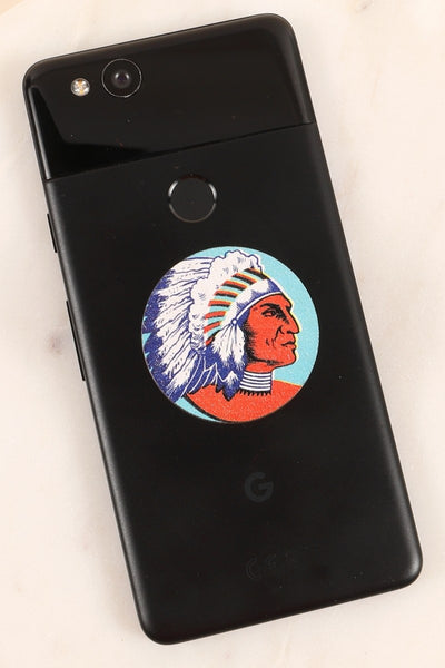 Indian Chief Wooden Self Adhesive Charm