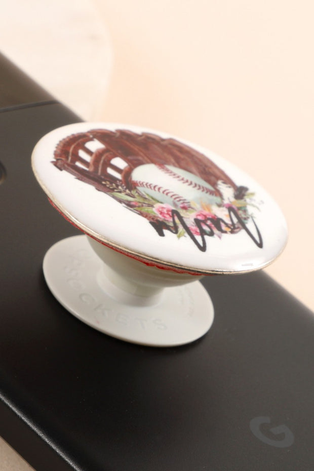 Baseball Mom Print Self Adhesive Charm