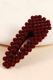 Mini Velvet Beads Hair Clips