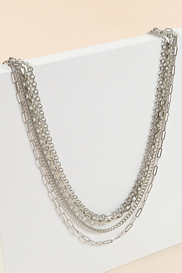 Chain Linked Multi Layered Necklace