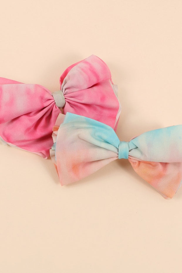 Tie Dye Ribbon Hair Barrette