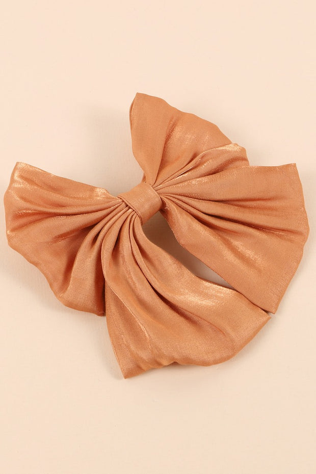 Shimmered Bow Ribbon Hair Barrette