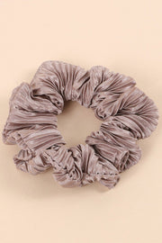 Pleated Solid Hair Scrunchies