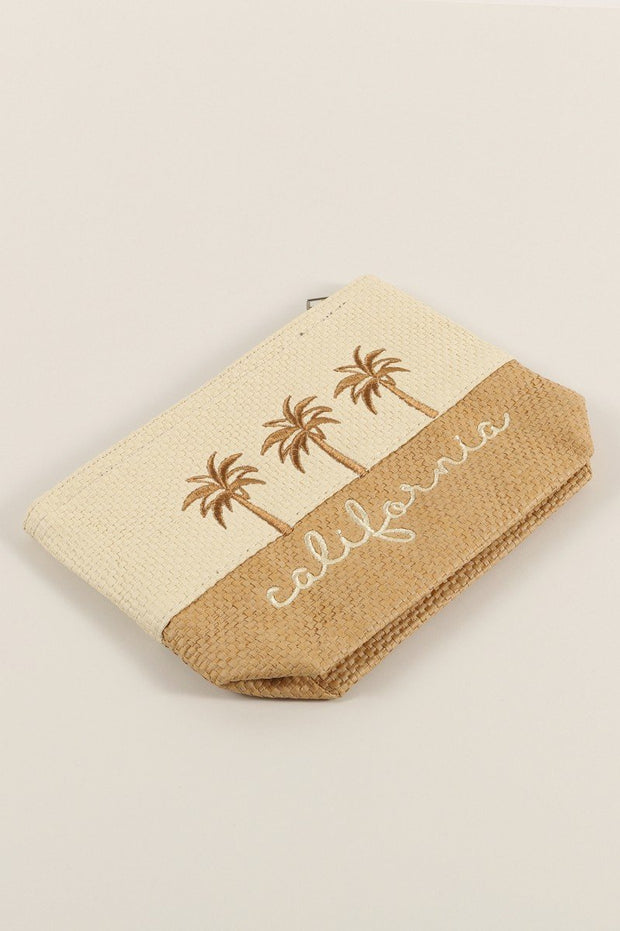 California Palm Trees Two Tone Pouch Bag