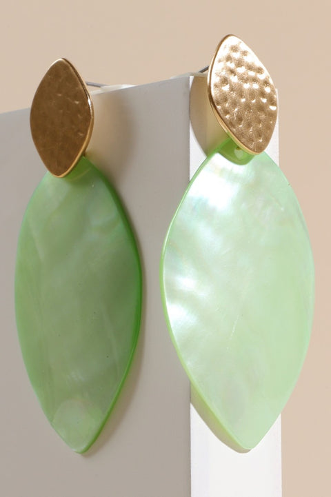 Genuine Shell Water Drop Post Earrings