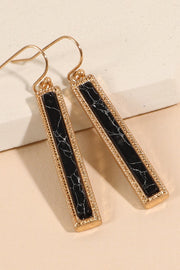 Natural Stone Bar Dangling Earrings