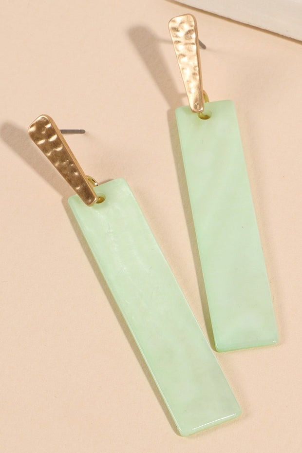 Bar Shape Shell Drop Earrings