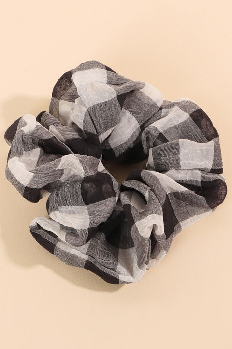 Buffalo Print Assorted Hair Scrunchies