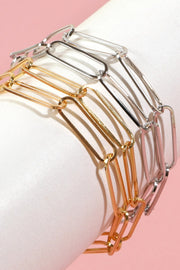 Metal Layered Chain Linked Bracelet