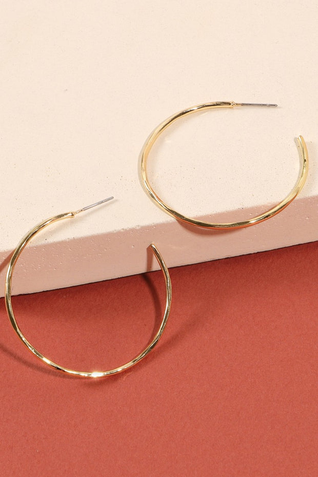 Metal Open Hoop Earrings
