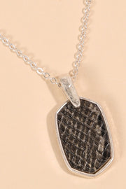 Animal Print PU Leather Pendant Necklace
