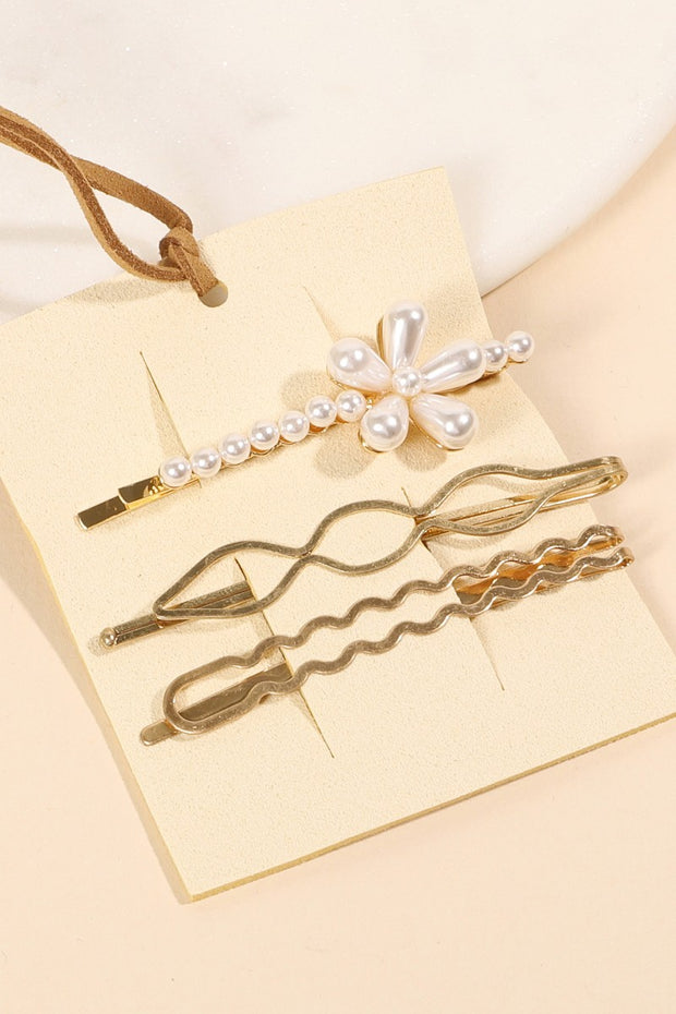 Pearl Metal Three Set Of Bobby Pins