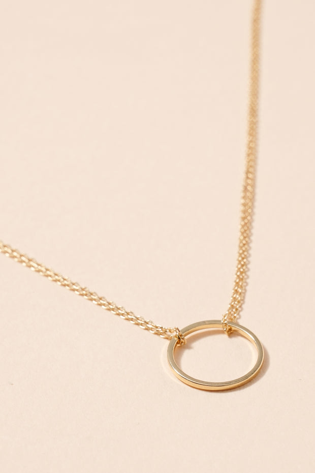 Organic Ring Charm Short Necklace