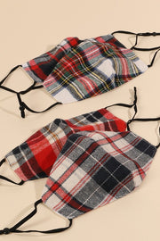 Plaid Pattern Assorted Reusable Face Masks