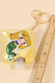 Mermaid Sequins Leather Kids Mini Sanitizer Holder