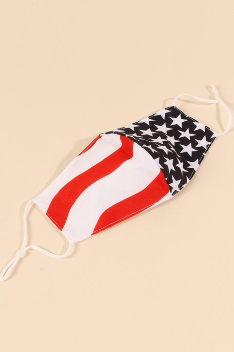 AMERICAN FLAG PRINT FACE MASKS