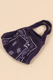 BANDANA PRINT COTTON FILTER POCKET MASKS