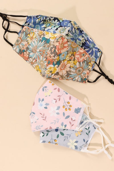 Assorted Floral Pattern Face Masks