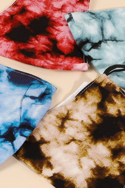 Assorted Tie-dye Printed Face Masks