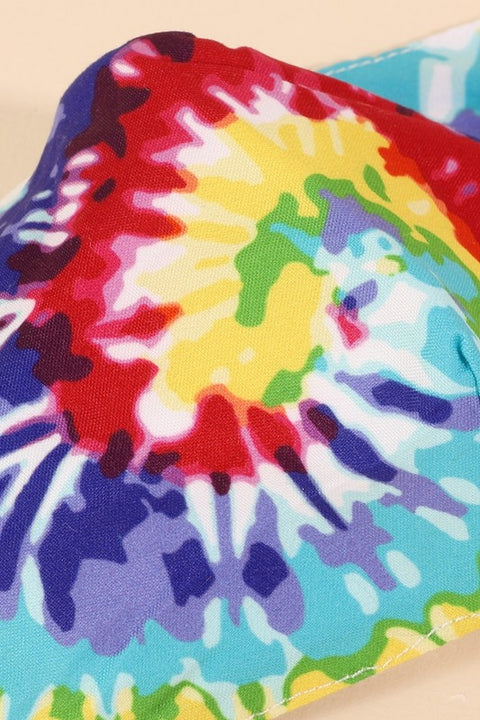 Assorted Swirl Tie-dye Printed Face Masks
