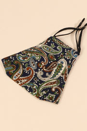 Paisley Pattern Washable Filter Pocket Face Mask