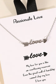 Love Script Charm Gold Dip Short Necklace