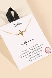 Heartbeat Charm Gold Dip Short Necklace