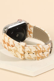 Houndstooth Print Calf leather  iWatch Band