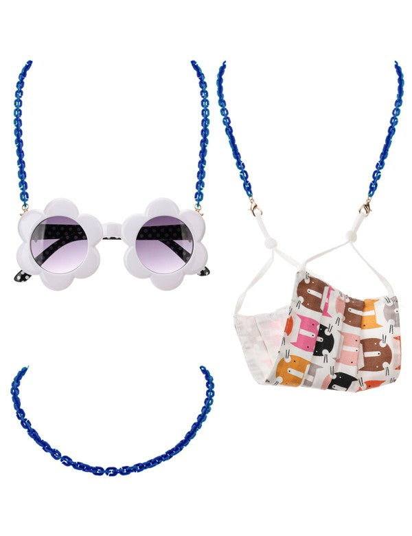 Acetate Link Chain Mask Lanyards Kids