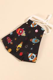 Space Print Reusable Filter Pocket Masks