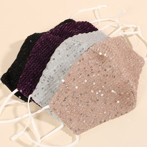 Sequin Decorated Reusable Face Masks