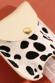 Animal Print Calf Hair Mini Sanitizer Holder
