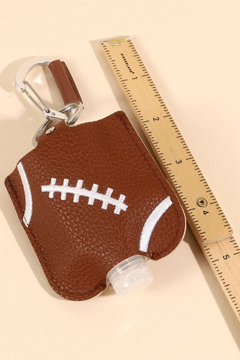 Football Ball Leather Sanitizer Holder