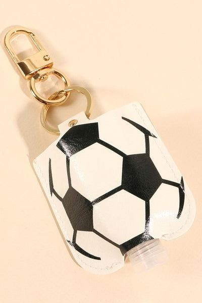 Soccer Ball Leather Sanitizer Holder