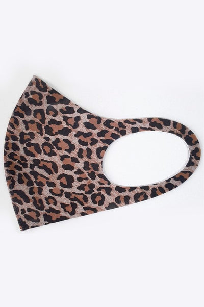 Leopard Print Anti-bacterial Washable Face Masks