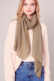 Solid Color Pleated Soft Scarf