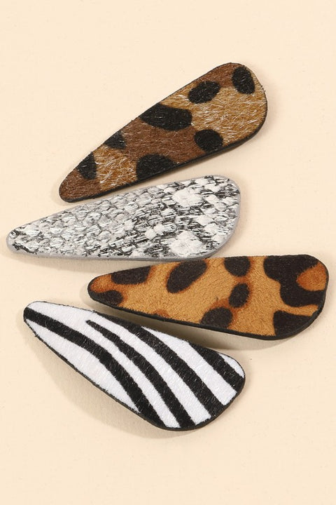 Animal Print Faux Fur Hair Clip