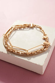 3 Kinds chain layered bracelet