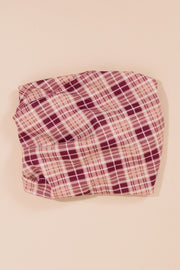 Plaid Double Layered Face Cover Snood