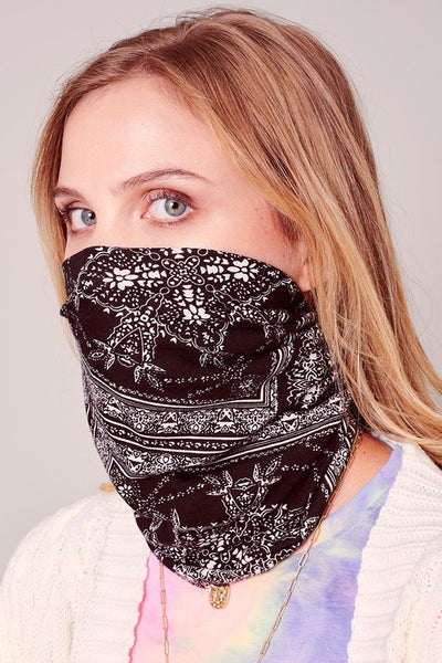 Paisley Print Multi-function Face Cover Snood